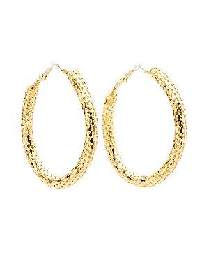 Chainmail Hoop Earrings