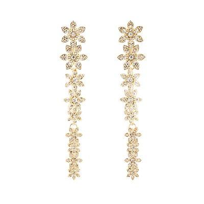 Embellished Floral Drop Earrings