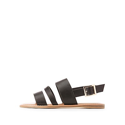 Bamboo Three-Band Slingback Sandals