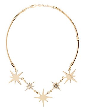 Embellished Star Choker Necklace
