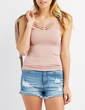 Strappy Caged Tank Top