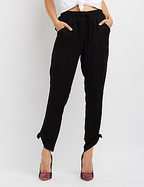 Tie-Side Drawstring Pants