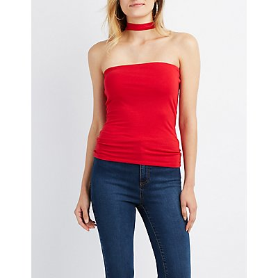 Choker Neck Tube Top