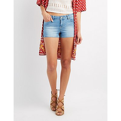 Push-Up Denim Shorts