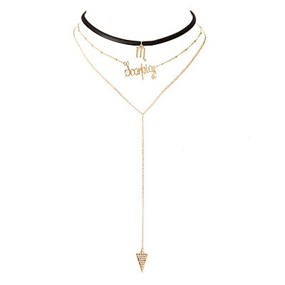 Scorpio Lariat & Choker Necklace - 2 Pack