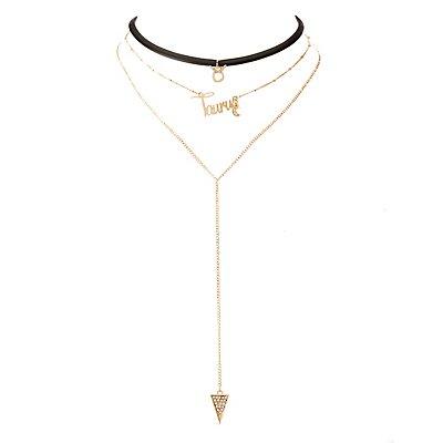 Taurus Lariat & Choker Necklace - 2 Pack