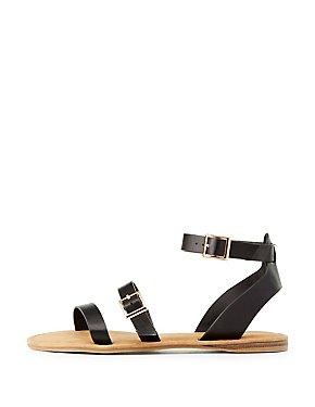 Bamboo Three-Piece Gladiator Sandal