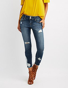 Refuge Destroyed Crop Boyfriend Jeans