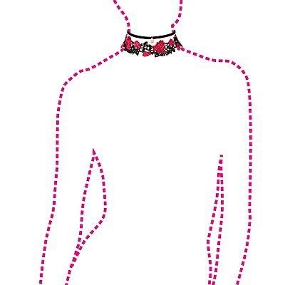 Floral Crochet & Faux Suede Choker Necklaces - 2 Pack