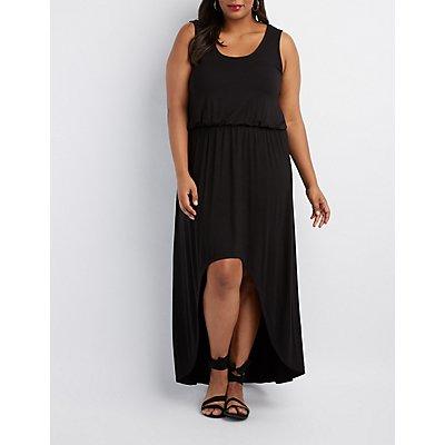 Plus Size High-Low Maxi Dress