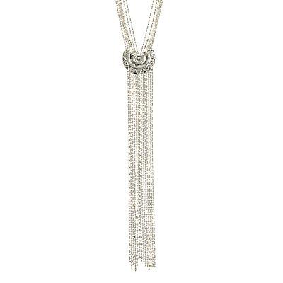 Velvet Choker & Lariat Necklace - 2 Pack