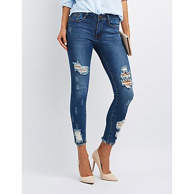 Machine Jeans Destroyed Skinny Jeans