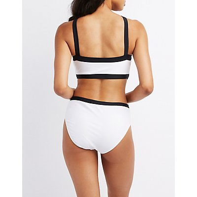 Colorblock Cut-Out One-Piece Swimsuit