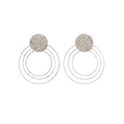 Embellished Tier Hoop Earrings