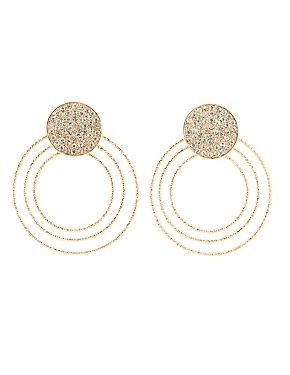 Embellished Tier Hoop Earrings