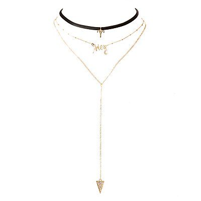 Aries Lariat & Choker Necklaces - 2 Pack