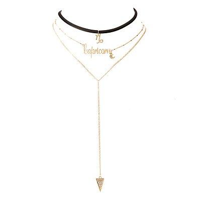 Capricorn Lariat & Choker Necklace - 2 Pack