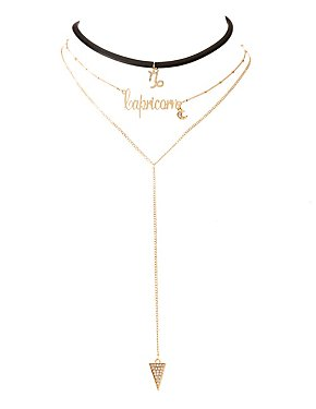 Capricorn Lariat & Choker Necklace - 2 Pack