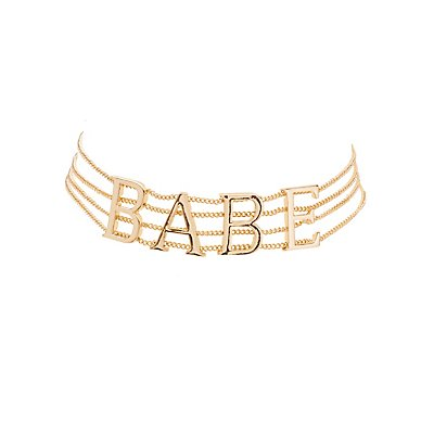 Babe Multistrand Choker Necklace