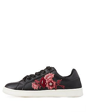 Bamboo Floral Embroidered Sneakers