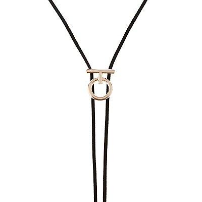 Chevron Choker & Lariat Necklaces - 2 Pack