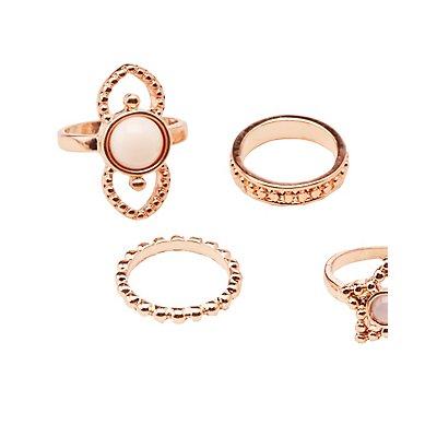 Embellished Stacking Rings -7 Pack