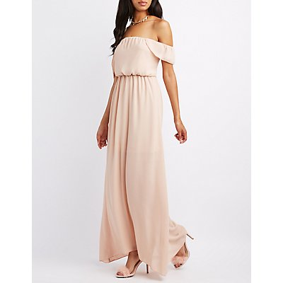 Ruffle Off-The-Shoulder Maxi Dress
