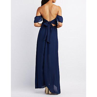Ruffle Off-The-Shoulder Maxi Dress