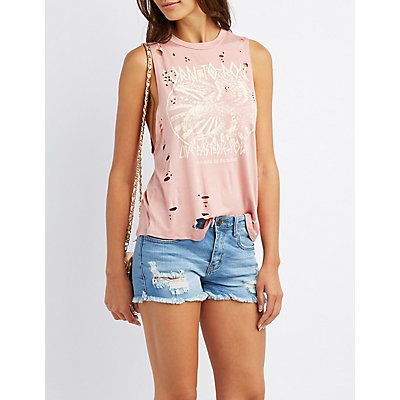 Destroyed Graphic Tank Top
