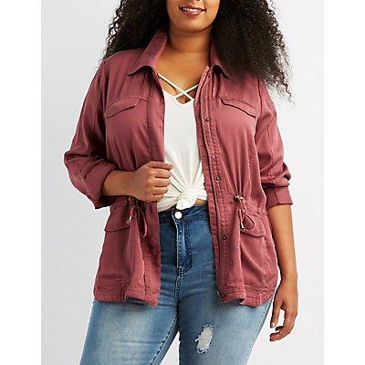 Plus Size Lightweight Anorak Jacket