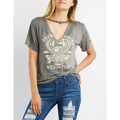 America Graphic Cut-Out Tee