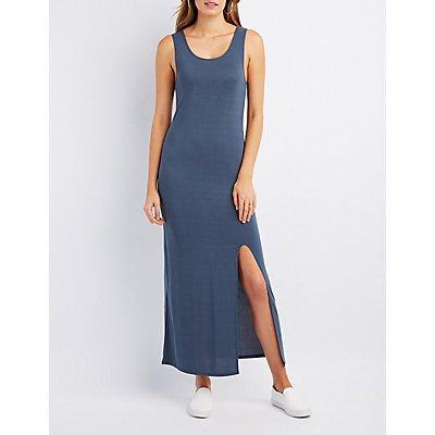Scoop Neck Slit Maxi Dress