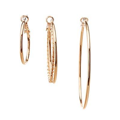 Embellished Hoop Earrings - 6 Pack