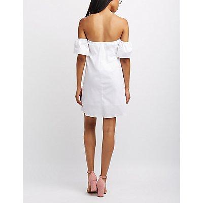Off-The-Shoulder Shift Dress