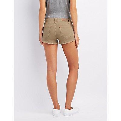 Destroyed Cut-Off Denim Shorts