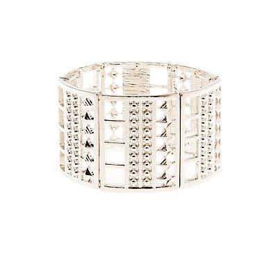 Metal Stretch Cuff Bracelet