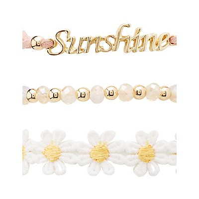 Sunshine Layering Bracelets - 5 Pack