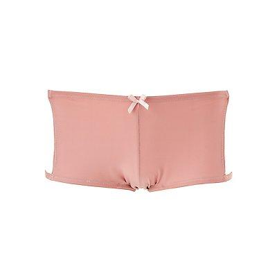 Lace-Trim Cut-Out Boyshort Panties