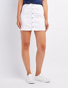 Button-Up Mini Skirt