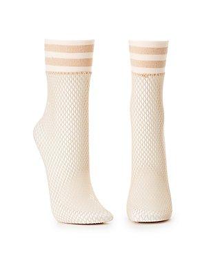 Fishnet Crew Socks