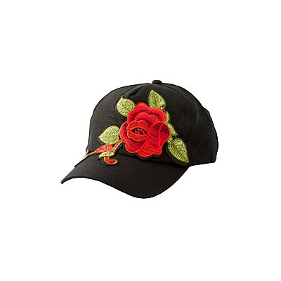 Rose Embroidered Baseball Hat