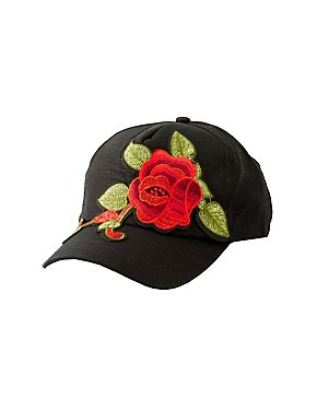 Rose Embroidered Baseball Hat