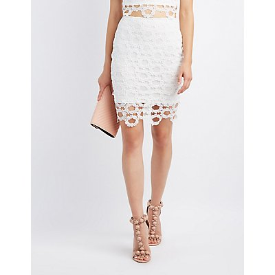 Circle Crochet Pencil Skirt