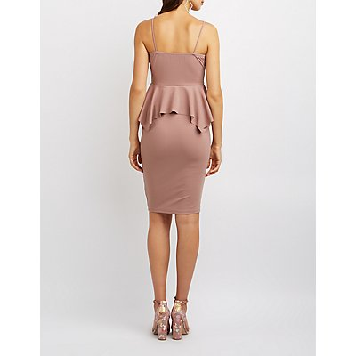 Peplum Bodycon Dress