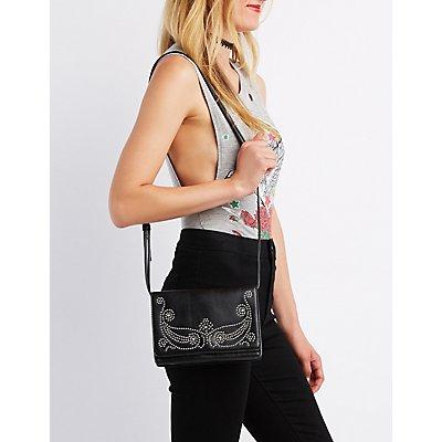 Western Studded Crossbody Bag
