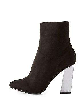Metallic Heel Ankle Booties