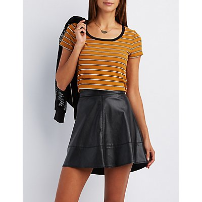 Striped Ringer Tee