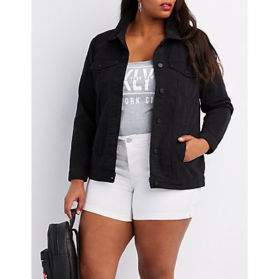 Plus Size Denim Boyfriend Jacket