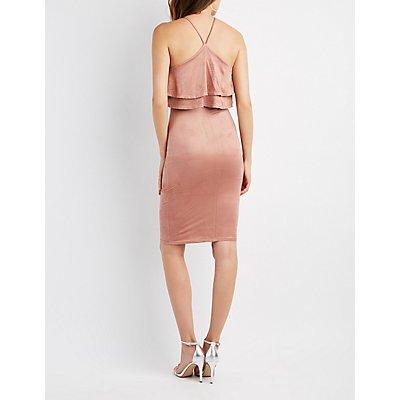 Ruffle Halter Bodycon Dress