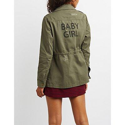 Baby Girl Distressed Anorak Jacket